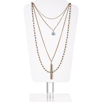 Le Marais Layered Necklace | Brown | Accessorize