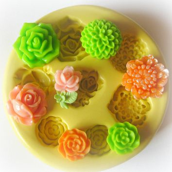Silicone Flexible Flower Mold Fonda.. on Luulla