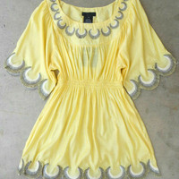 Embroidered Jaune Boheme Tunic