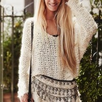 Free People Womens Up the Ladder Pullover -