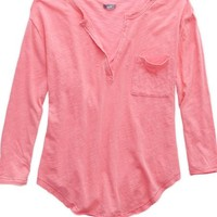 Aerie Women's Henley Placket T-shirt