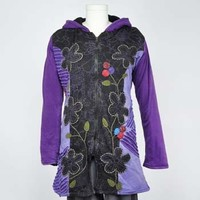 Flower Patch Hooded Jacket