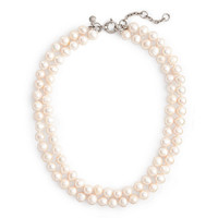 J.Crew Womens Freshwater Pearl Double-Strand Necklace