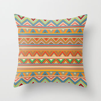 Mix #75 Throw Pillow by Ornaart | Society6