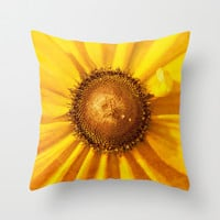 FLOWER OF THE SUN Throw Pillow by Catspaws | Society6