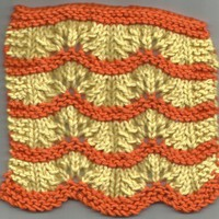 Handmade Yellow and Orange Mini Washcloth