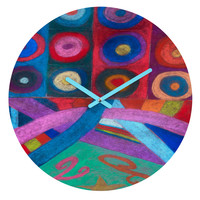 Fresh Artists 12 Points Of View Round Clock