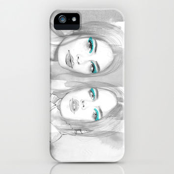 Pretty Bad Girls iPhone & iPod Case by Sara Eshak