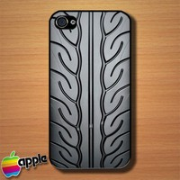 Tire Thread Skid Custom iPhone 4 or 4S Case Cover