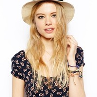 ASOS Straw Boater Hat at asos.com