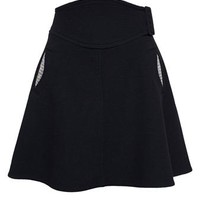 CARVEN | Virgin Wool Skirt with Jeweled Pockets | Browns fashion & designer clothes & clothing