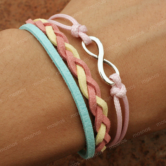 Bracelet-infinity bracelet, karma bracelet, gift for girlfriend, girlfriend gift bracelet