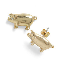 Piglet It Be Known Earrings | Mod Retro Vintage Earrings | ModCloth.com