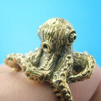 Limited Edition and Handmade - 3D Octopus Animal Ring Sizes 6 7 8