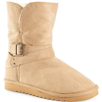 Aeropostale Faux Suede Buckle Core Boot -