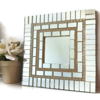 Mosaic Wall Mirror, Square Mosaic Mirror, Mirror Tiles