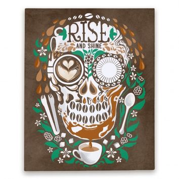 Rise and Shine Coffee Skull