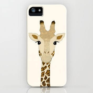 Golden Glitter Giraffe iPhone & iPod Case by Tangerine-Tane