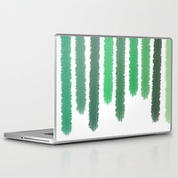 ipad and Laptop Skins - Green Stripes