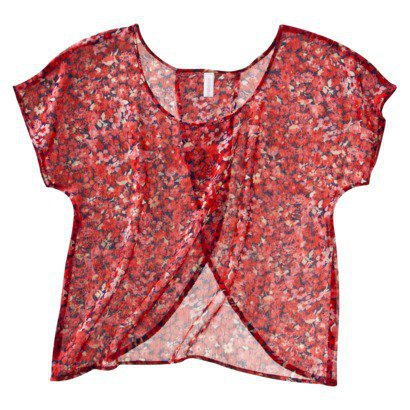 Xhilaration® Juniors Short Sleeve Top - Assorted Colors