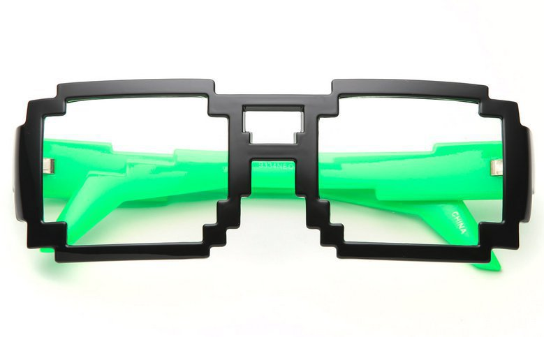 80's collection - pixel aviator neon sides glasses (more colors) - 80's | 80's Purple