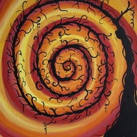 Living Room, Bedroom, Child Room, Original Painting, Abstract Painting, Modern Art: Spiral, Thorns, Fantasy, Dream World, On Sale