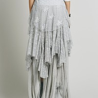 Free People Womens FP ONE Tiered Lace Maxi - Grey Sky