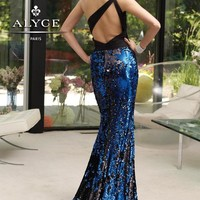 2014 Alyce Fitted Sequins Homecoming Dress 6036