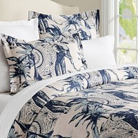 ARI ELEPHANT PRINTED DUVET AND SHAMS