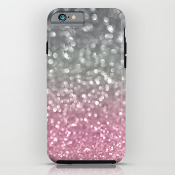 Gray and Light Pink iPhone & iPod Case by Lisa Argyropoulos