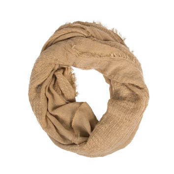 TAUPE DISTRESSED INFINITY SCARF