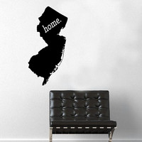 New Jersey Home Decal - Home Decor - Car Decal - USA - America - Indoor - Outdoor - Cottage - Perfect Gift - High Quality Vinyl Graphic