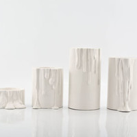 Set Of Four Porcelain Candle Holders