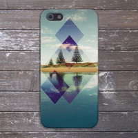 Mountain Lake x Geometric Reflections Case for iPhone 5 iPhone 5S iPhone 4 iPhone 4S and Samsung Galaxy S5 S4 & S3