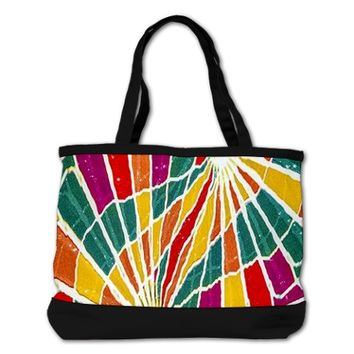 Multicolored Vibrations Shoulder Bag