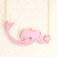 I'm Really a Mermaid Pink Necklace