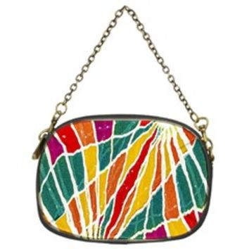Multicolored Vibrations Chain Purse (Two Sided)