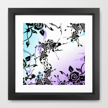 Punkoco Floral Blues Framed Art Print by LOVEDART