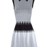 AZZEDINE ALAÏA | Stretch-Knit Dress with Collar | Browns fashion & designer clothes & clothing