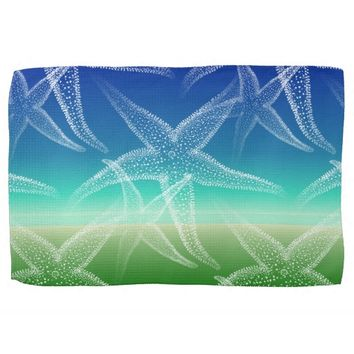 Starfish Blue Green Seascape Kitchen Towel