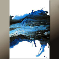 Blue Abstract Canvas Art Painting Original 24x36 Contemporary Wall Art Paintings  by Destiny Womack - dWo  - Scattered