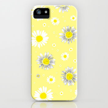 Daisies - Yellow iPhone & iPod Case by Ornaart | Society6