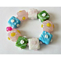 Multicolored Children's Lampwork Beads Bracelet - D'Zign Jewelry