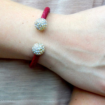 On Point Cuff Bracelet {deep red}