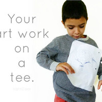 Personalized Clothing Childrens Artwork Tshirt Custom Made To Order by TrashN2Tees