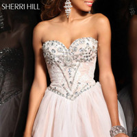Strapless Homecoming Dresses Short Dress Beaded Prom Ball Evening Dress*Custom