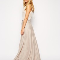 ASOS | ASOS High Neck Pleated Maxi Dress at ASOS