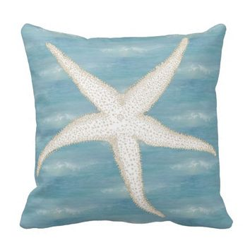 Starfish Blue Sea Pillow