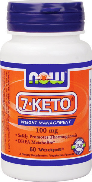 7 KETO 100 mg 60 vCaps, Now Foods, Weight Loss