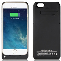 4000mAh Power Bank Case for iPhone 6 (COLOR: BLACK OR WHITE)